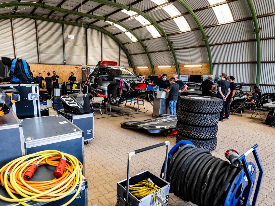 Audi RS Q e-tron: rijdend testlaboratorium probeert technologieën voor de toekomst uit tijdens Dakar Rally