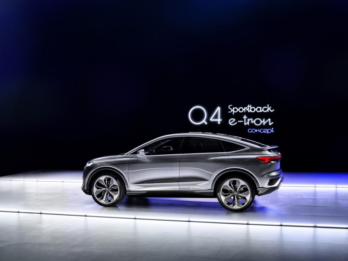 Audi Q4 Sportback e-tron concept blikt vooruit op morgen