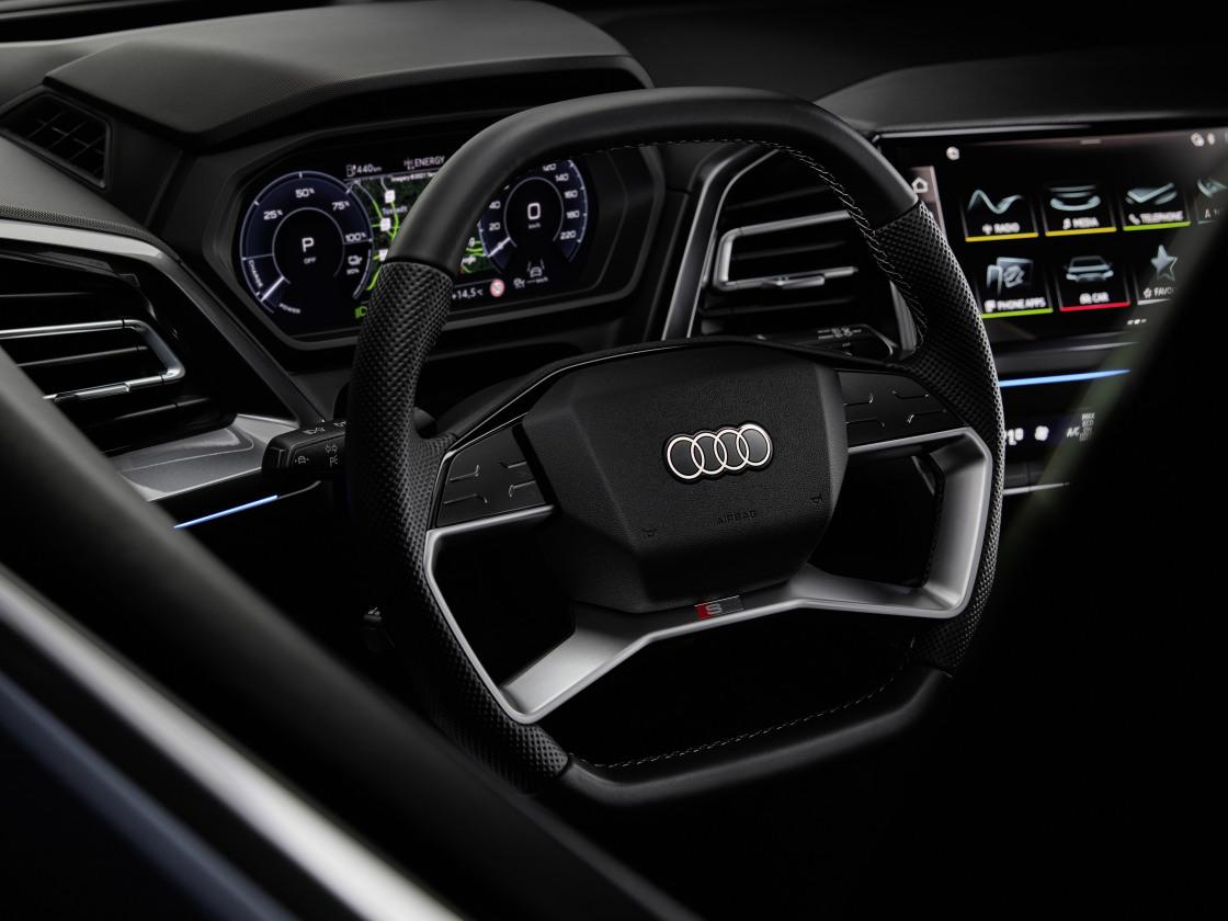 Audi Q4 e-tron krijgt interieur met innovatieve technologie